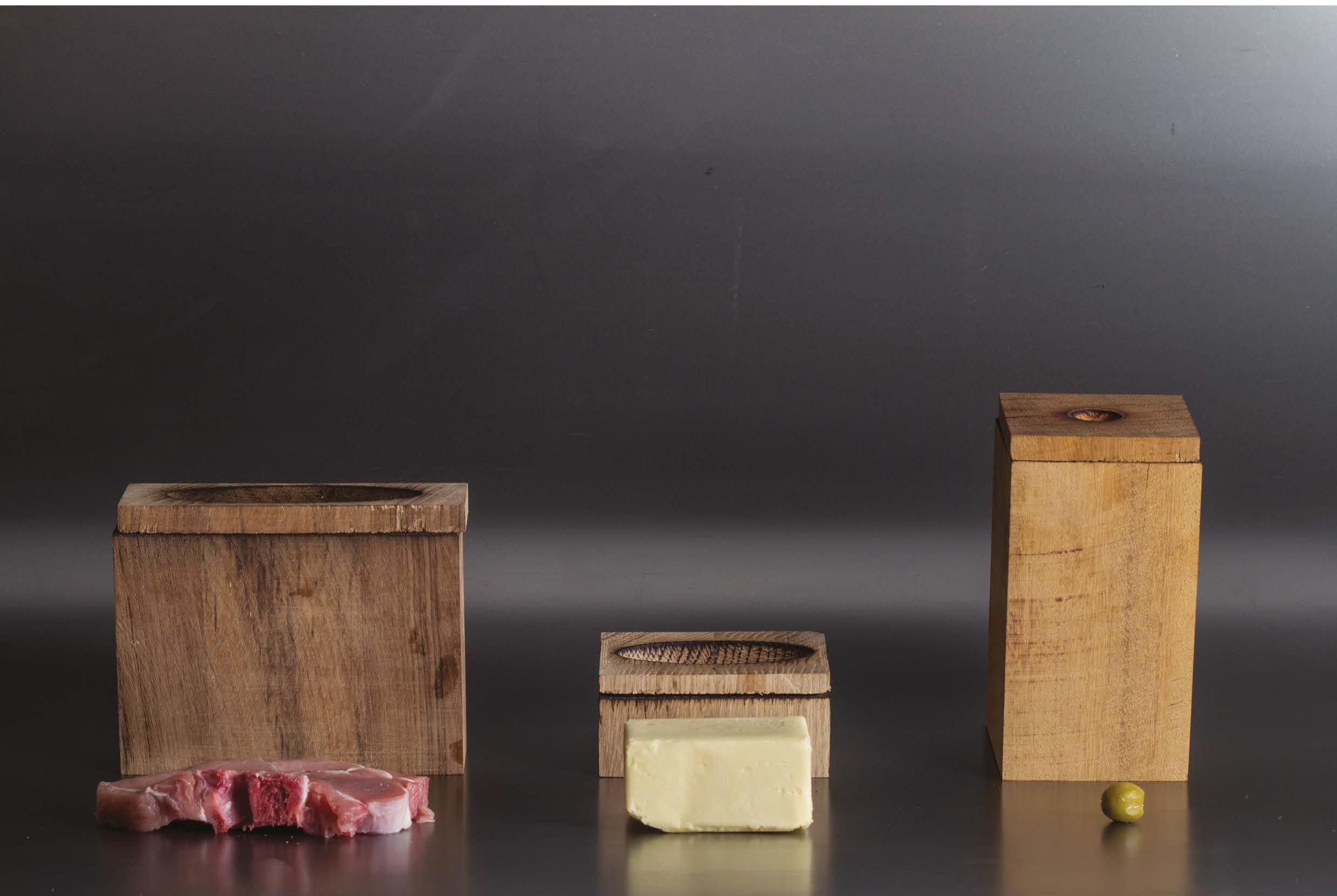 FSCDA16 - Zsofia Kollar - Voedselcontainers van gerookt hout