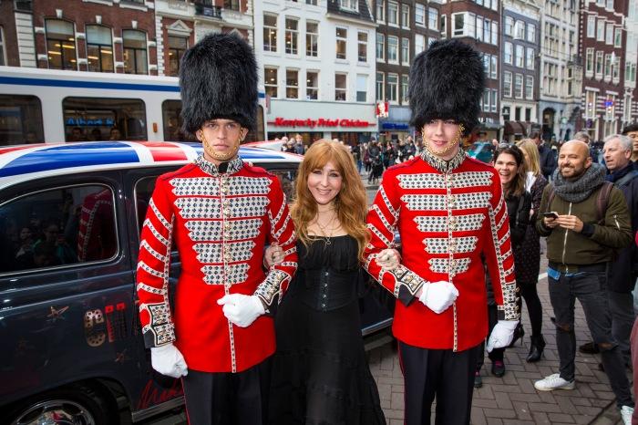 Amsterdam, 7 april 2016. De Bijenkorf, Charlotte Tilbury.