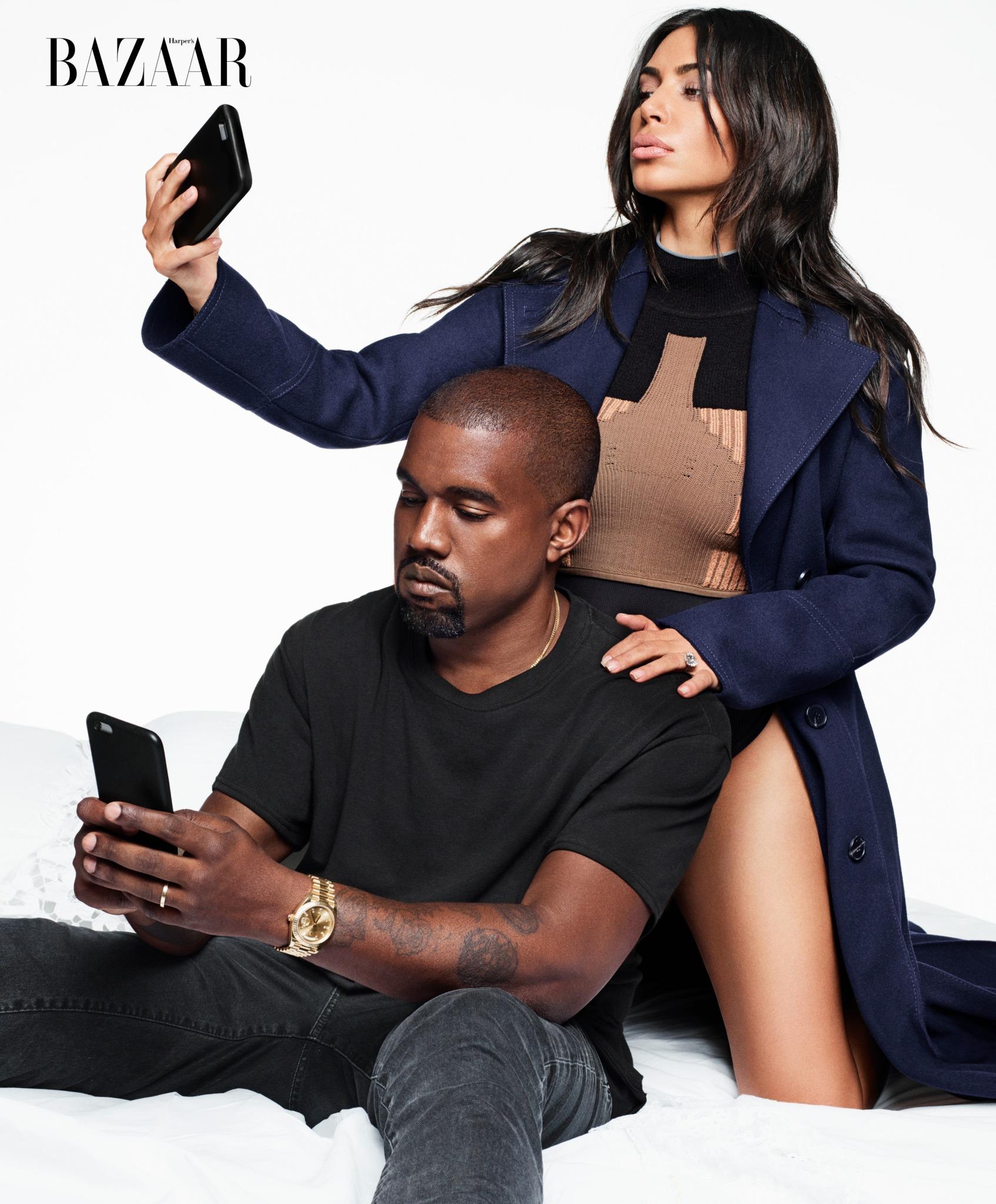 Kim en Kanye voor Harper's Bazaar septembernummer (1)